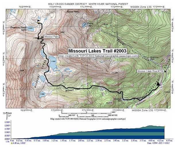 Missouri Lakes Trail Map - Missouri lakes map